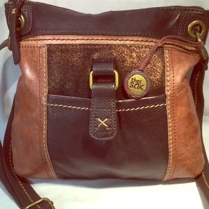 Tri color leather crossbody by The Sak